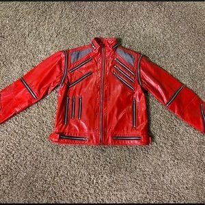 Vintage Michael Jackson Beat It Red Leather Jacket